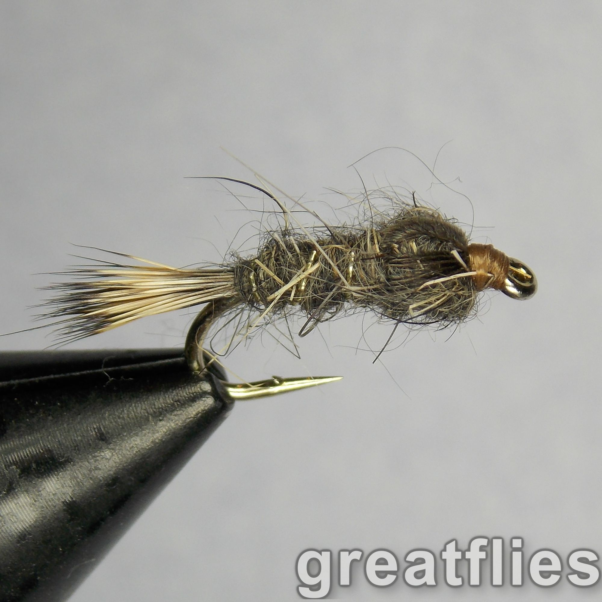 12QTY Gold Ribbed Hare Fly Fishing Flies size 14